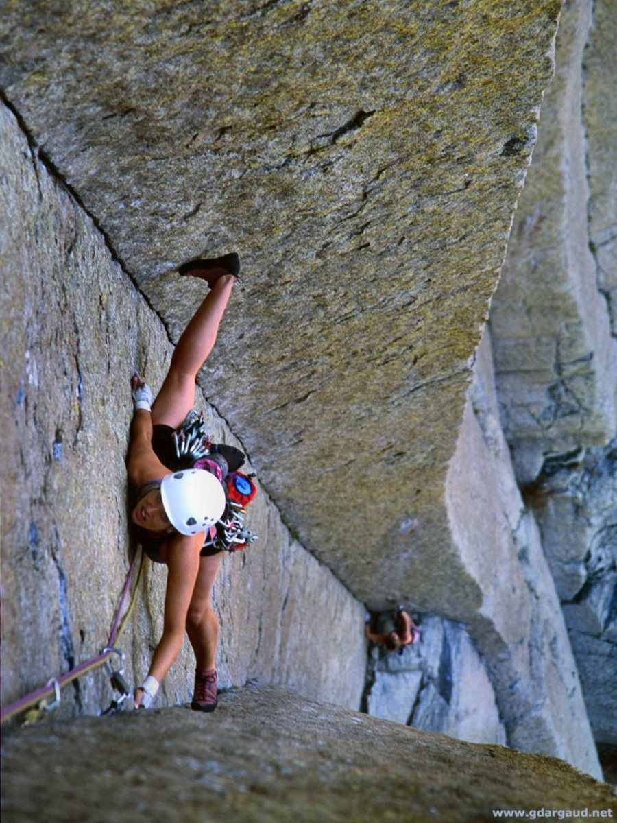 Improve flexibility with rock climbing.