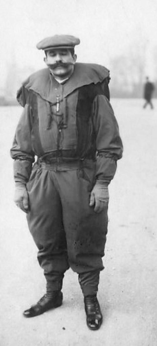 Franz Reichelt, before the fatal attempt 1912