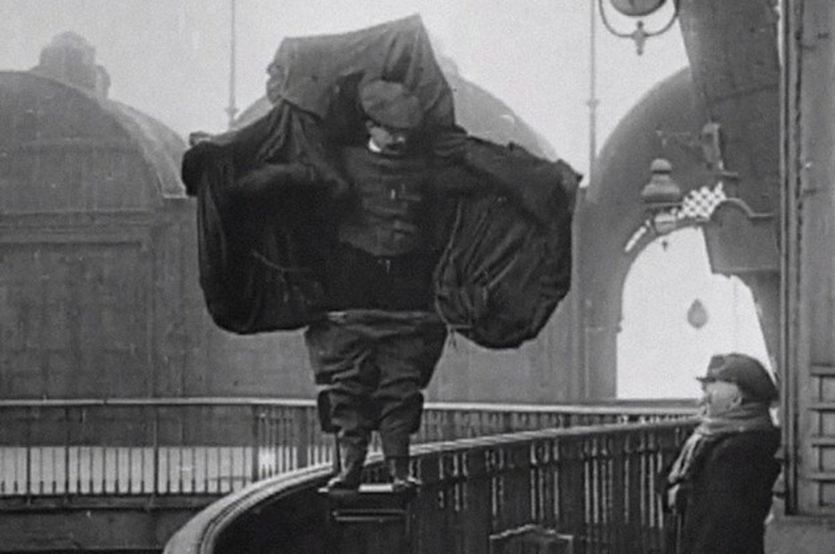 Just before he jumped to his death, February 4th 1912