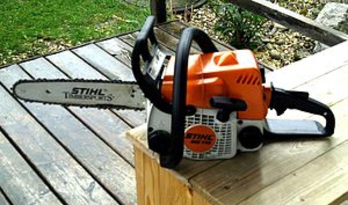 A Stihl chainsaw