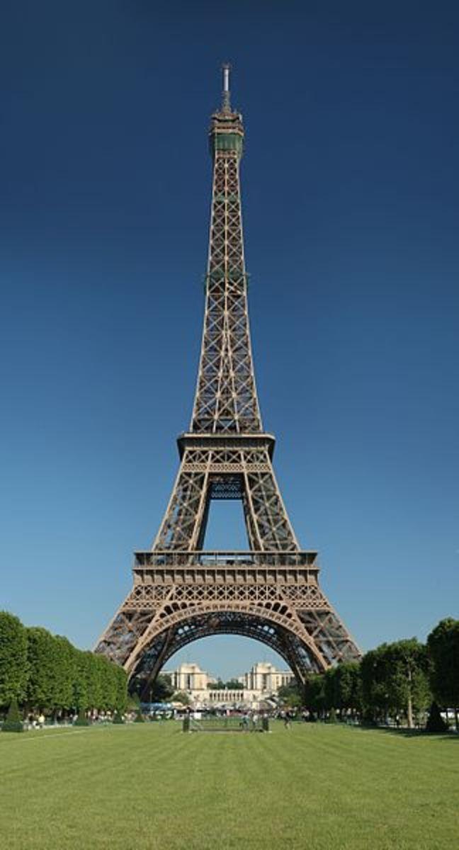 Eiffel Tower, seen from the champ de Mars, Paris, France