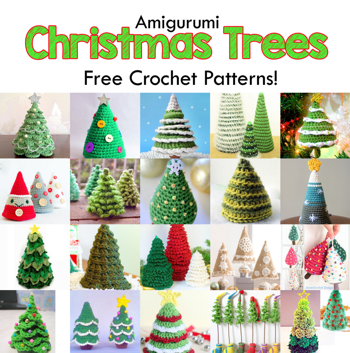 19 Free Amigurumi Christmas Tree Crochet Patterns