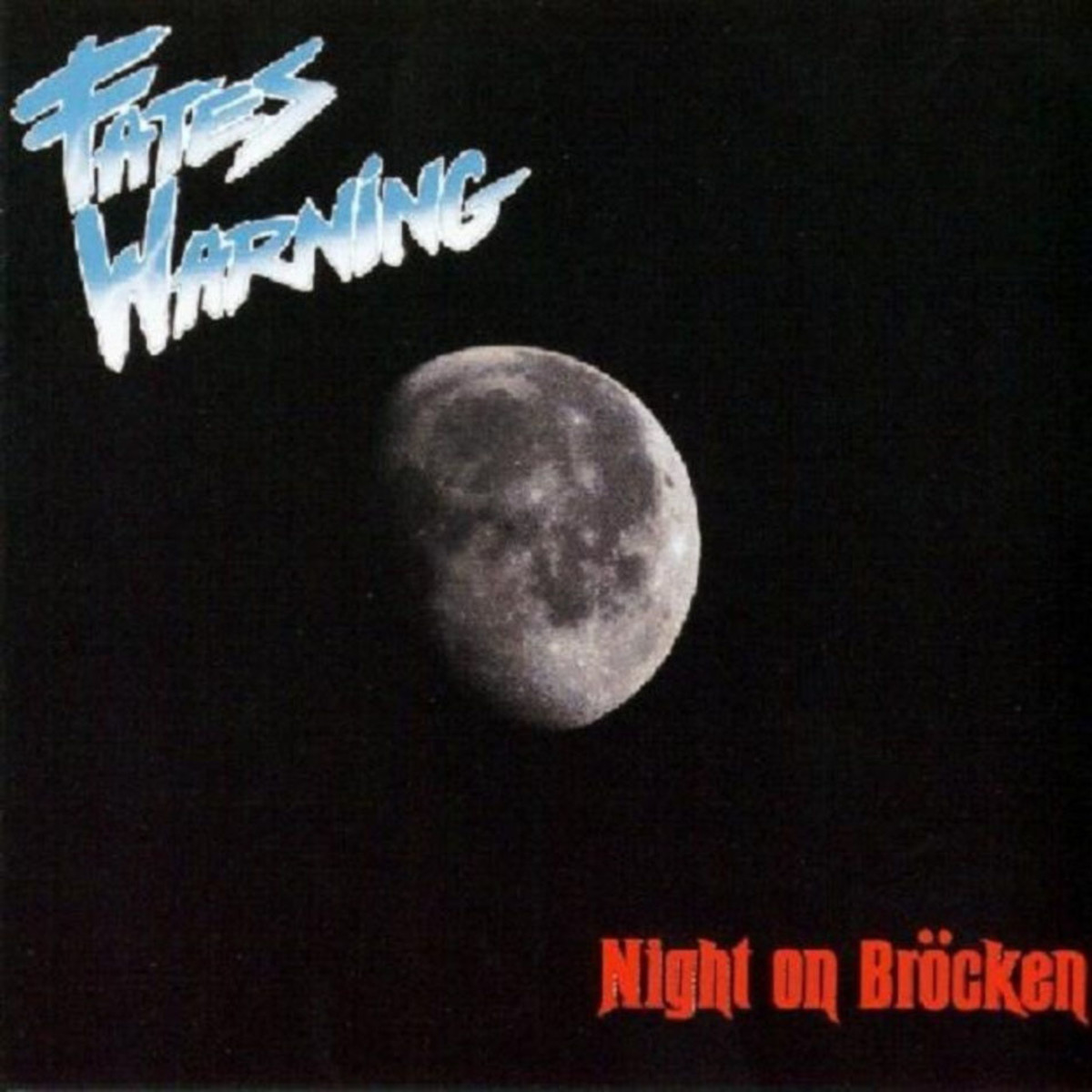 The full moon is on the cover and it symbolizes that night is upon us. Night on Brocken would be one of four good releases in the 1980's by Fates Warning.