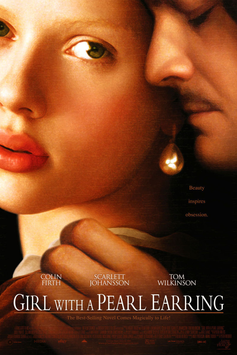 "Move poster for the 2003 film ""Girl with a Pearl Earring"""