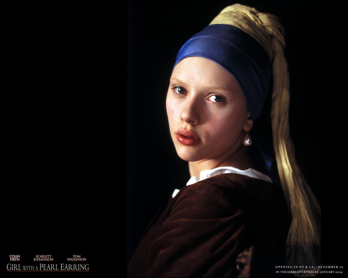 "Scarlett Johansson as Griet in ""Girl with a Pearl Earring"""