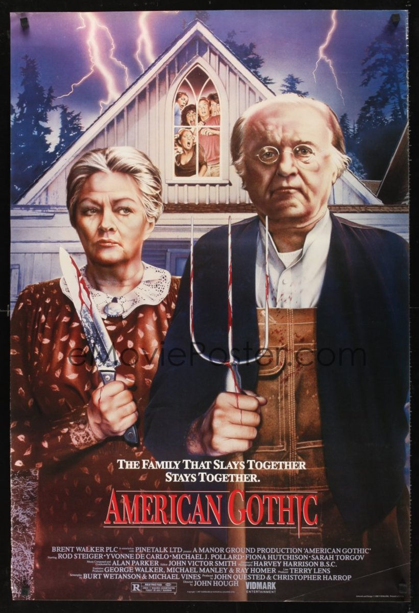 "Movie Poster from the 1988 slasher/cult film ""American Gothic"""
