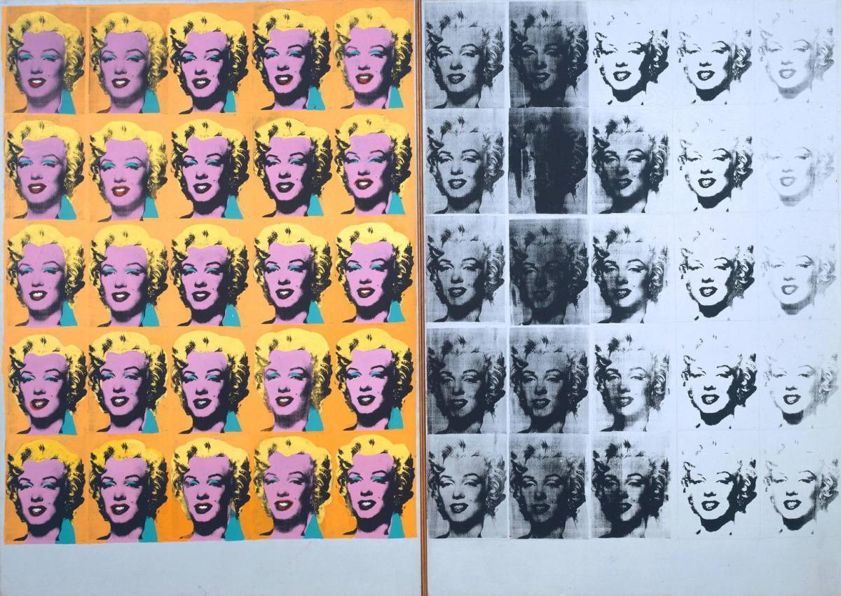 """Marilyn Diptych"" Andy Warhol, 1962; 205.44 × 289.56 cm, silkscreen"
