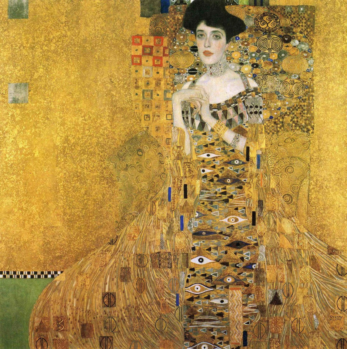 """Portrait of Adele Bloch Bauer I"" Gustav Klimt, 1907, 138 x 138 cm, oil on canvas"