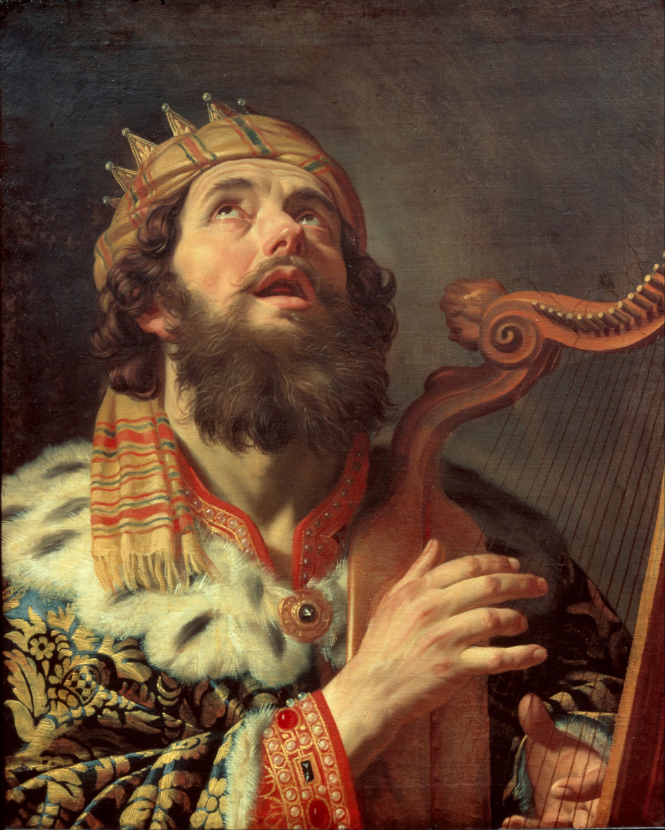 King David Playing the Harp by Gerard van Honthorst