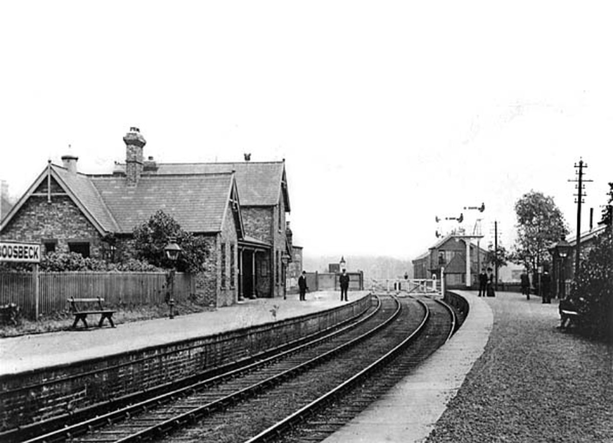First station east of Guisborough built by the NER was Boosbeck - seen here in 1916 -, which also served Lingdale, Margrove Park and Charltons (next to Aysdalegate Mine)