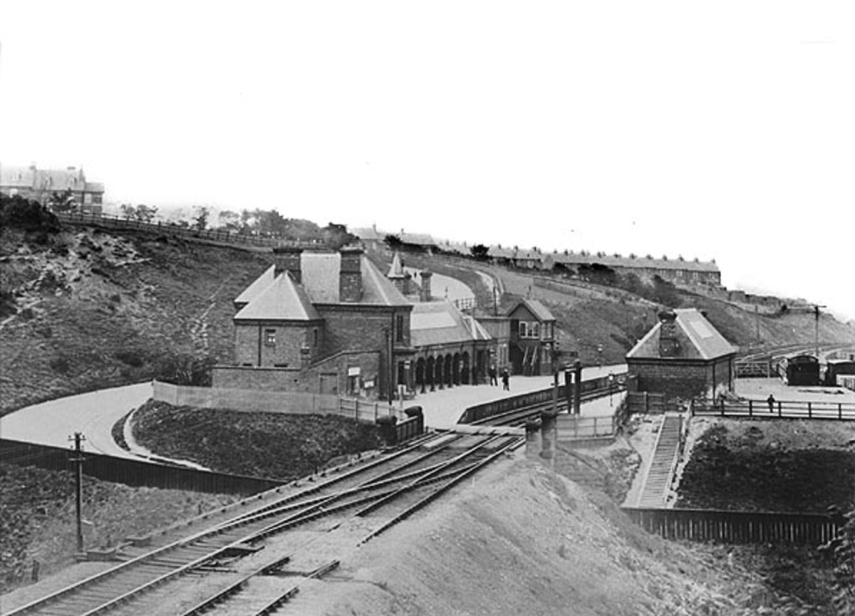 Loftus Station, the Whitby, Redcar & Middlesbrough Union Rly. met end-on with the Cleveland Railway. West of here two mine branches converged on the main line in a triangle formation at Priestcroft Junction, one from Kilton Mine, the other Lingdale