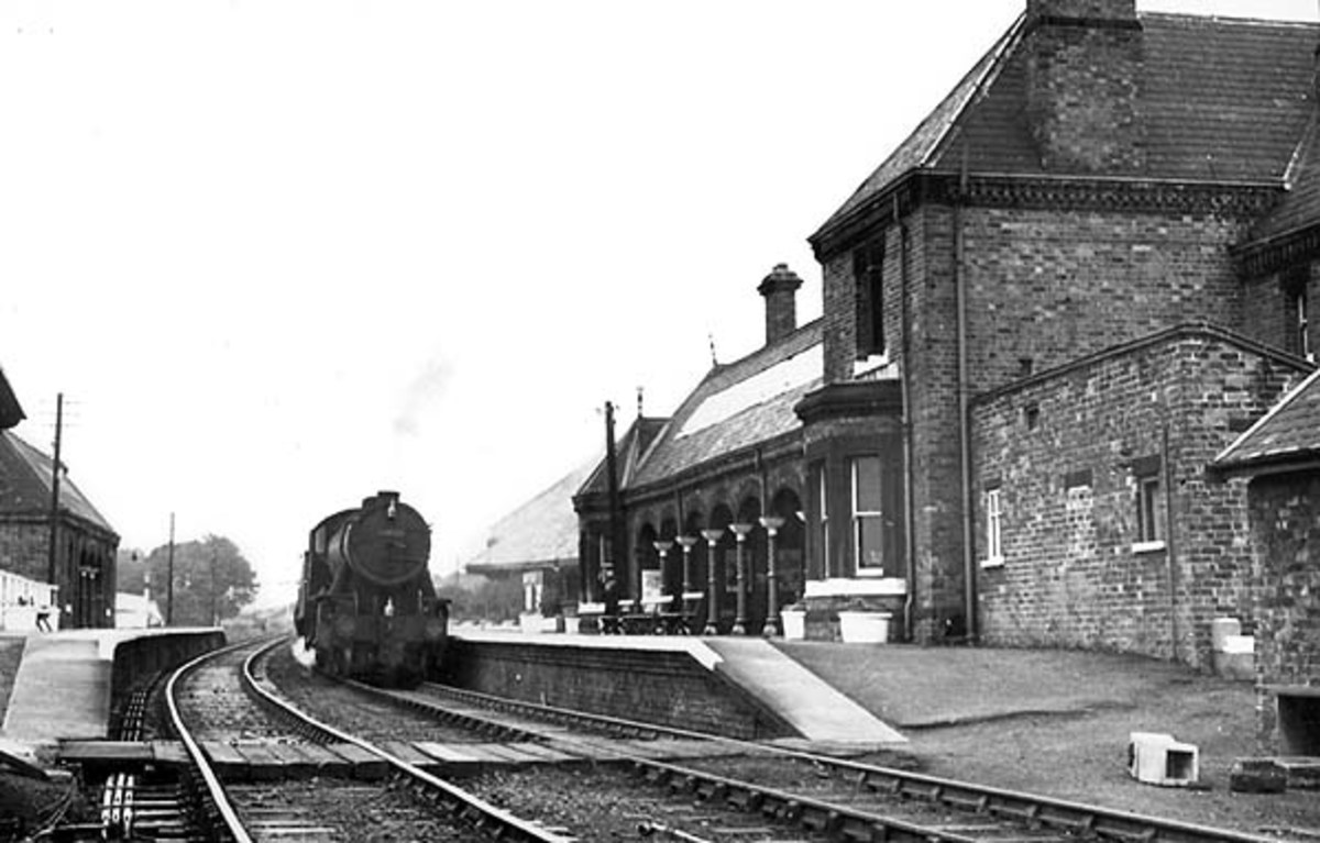 Further along was Brotton - seen here in the 1950s - a couple of miles inland from Saltburn where two lines met. One led west over Riftswood Viaduct to the junction outside the S&DR Saltburn Station, the other was the  Cleveland Railway.