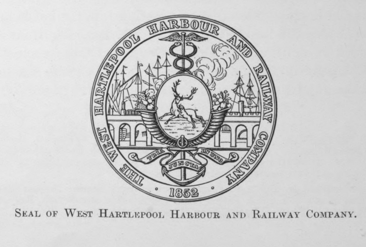 Seal of the West Hartlepool Harbour & Railway (WHH&R)