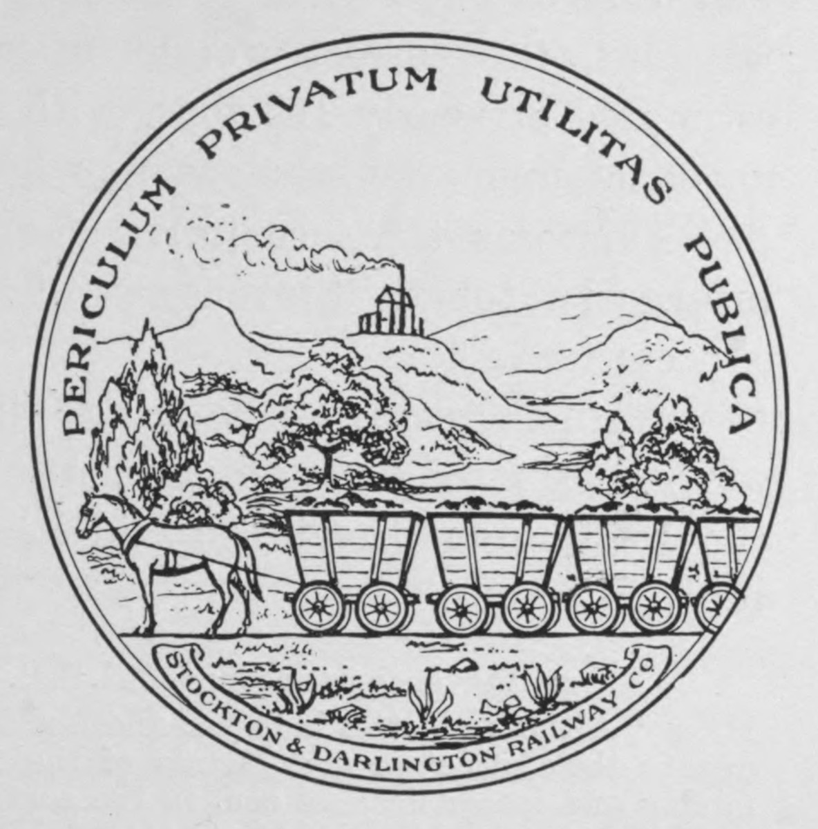 Seal of the Stockton & Darlington Railway (S&DR)
