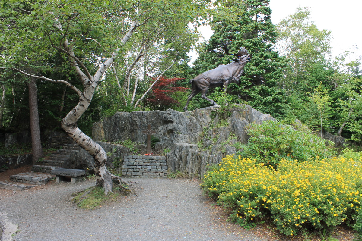 The Caribou Statue, a replica of the one at Beaumont Hamel, France, in honour of the Royal Newfoundland Regiment.