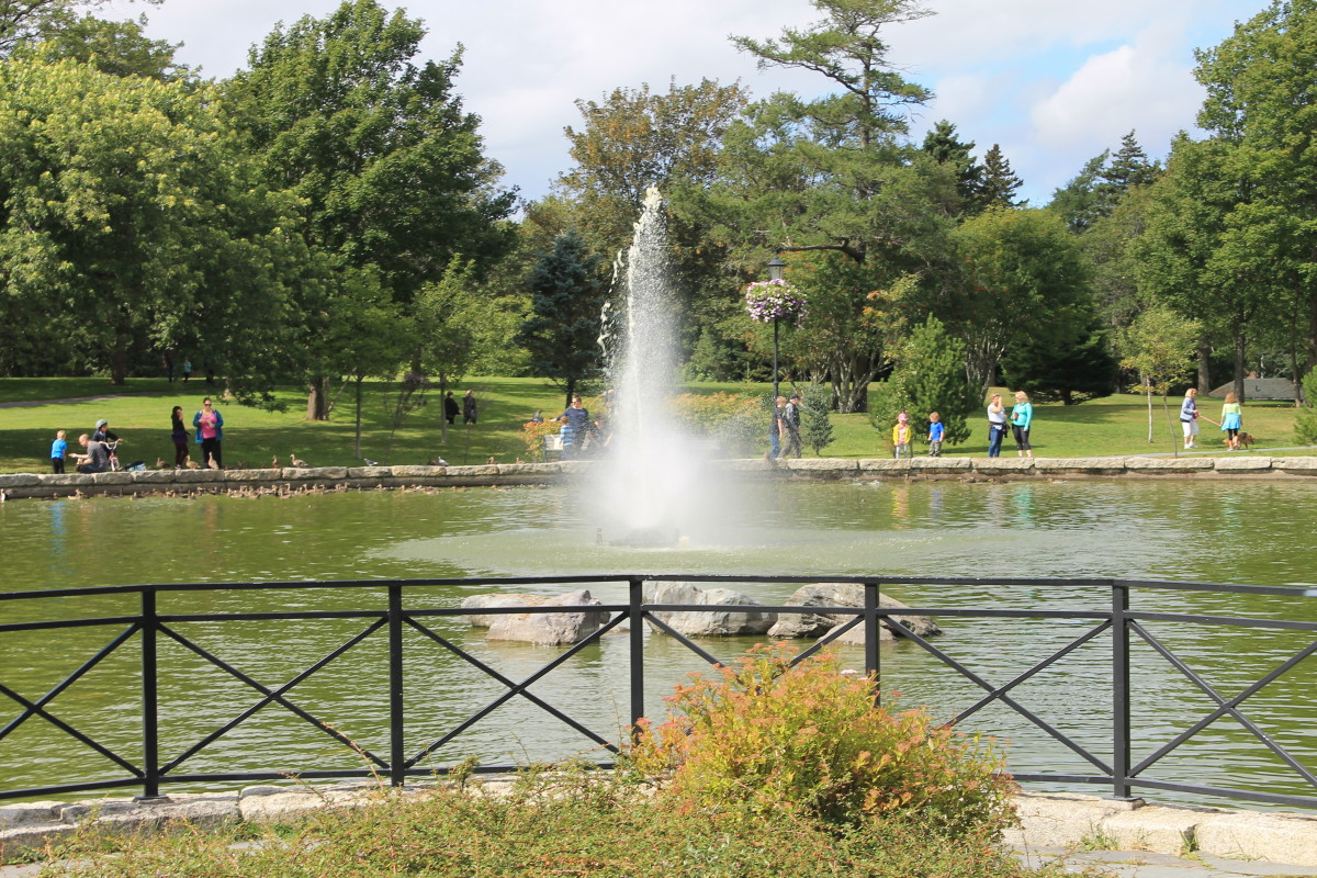 The Fountain Pond in the park's west end.