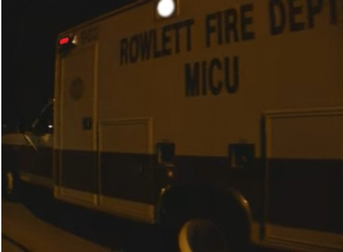 Ambulance that took Damon Routier to the hospital