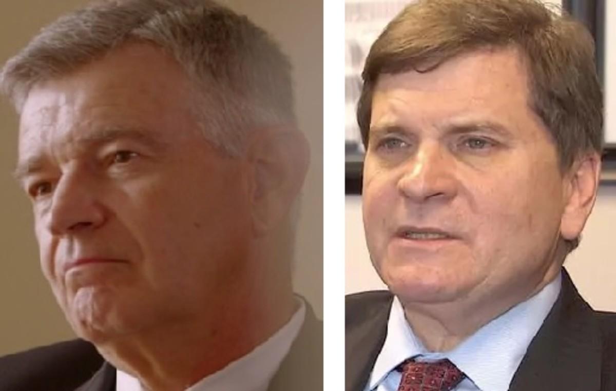 The prosecution. Greg Davis and Toby Shook