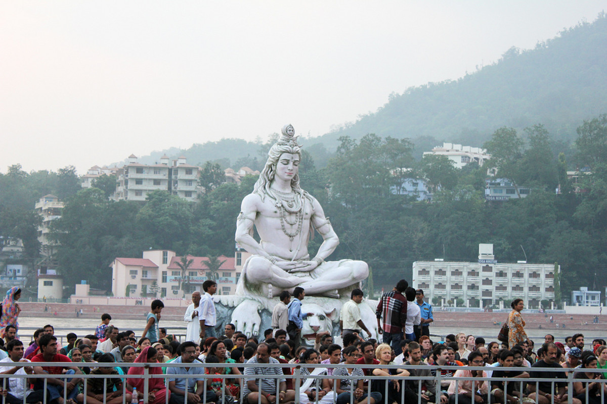 The Lord Shiva Statue of Rishikesh Haridwar
