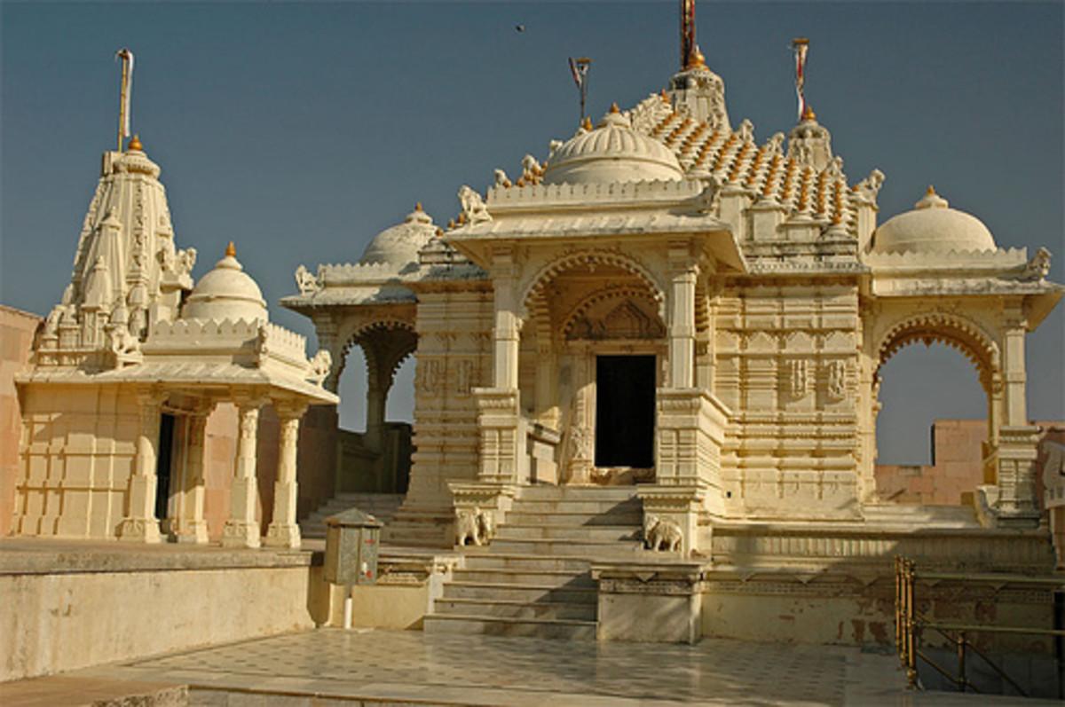 Modern Jain Temple in Palitana, Gujarat