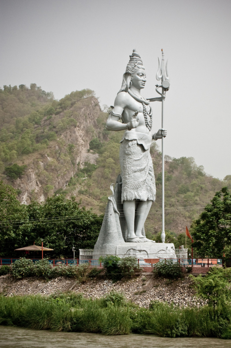 The Lord Shiva Statue of Har ki Pauri Haridwar