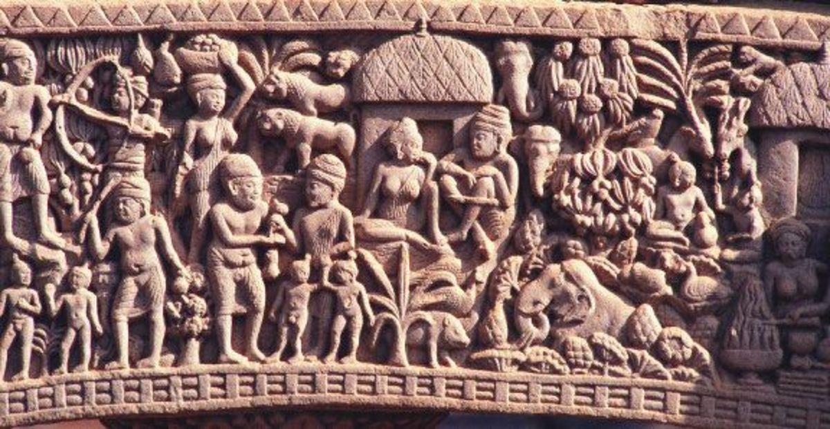 amaravati jataka torana great stupa