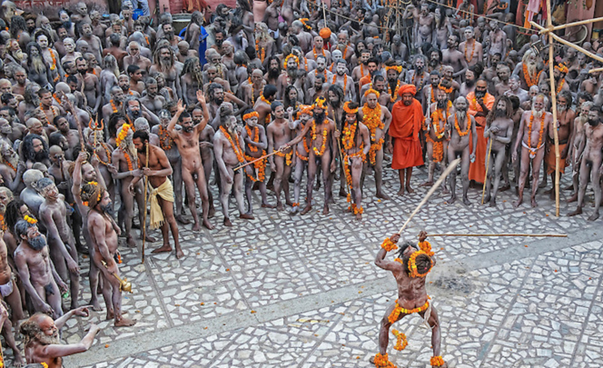 Hindu Devotees Gathering at Har ki Pouri - Haridwar (During Kumbh Mela)