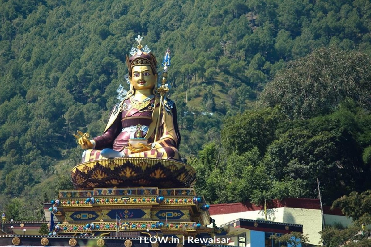 Padmasambhava Statue in Rewalsar, Himachal Pradesh