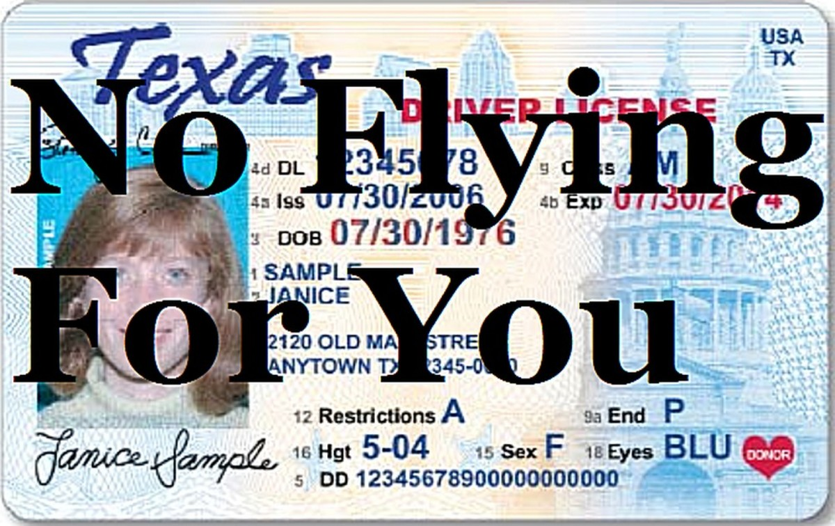 TSA says Texas drivers can't fly after 2016 because their licenses aren't in compliance. Let's see what airlines serving Texas cities have to say about this!