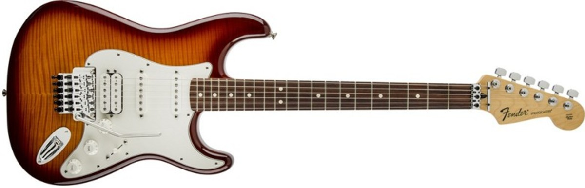 Fender Standard Stratocaster HSS Plus Top. Standard Stratocaster Plus Top Electric Guitar with Floyd Rose Tremolo