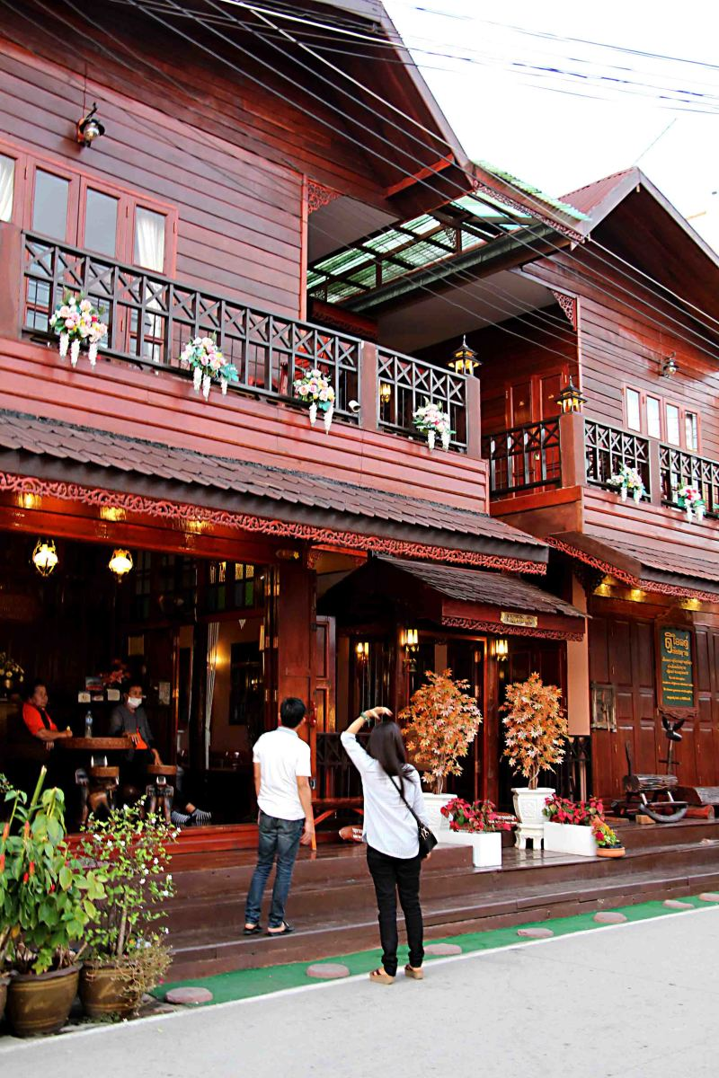 One of the many attractively restored wooden hotels on the Street