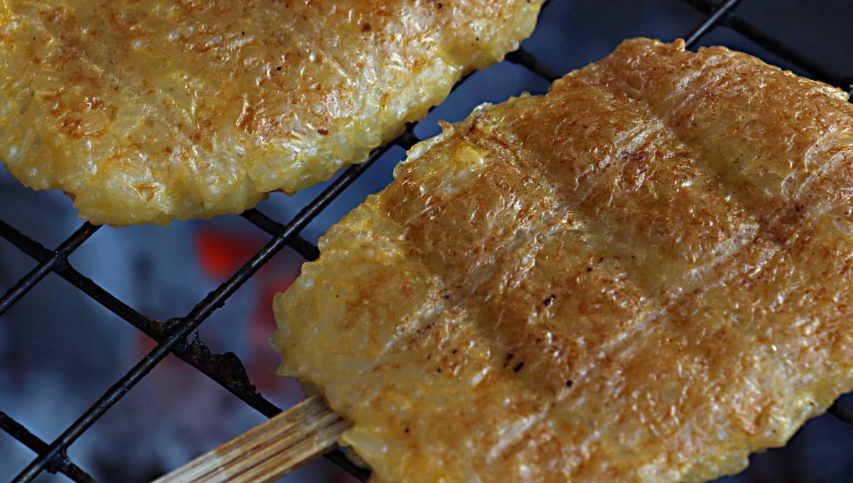 More familiar street food - succulent, freshly cooked, chicken skewers