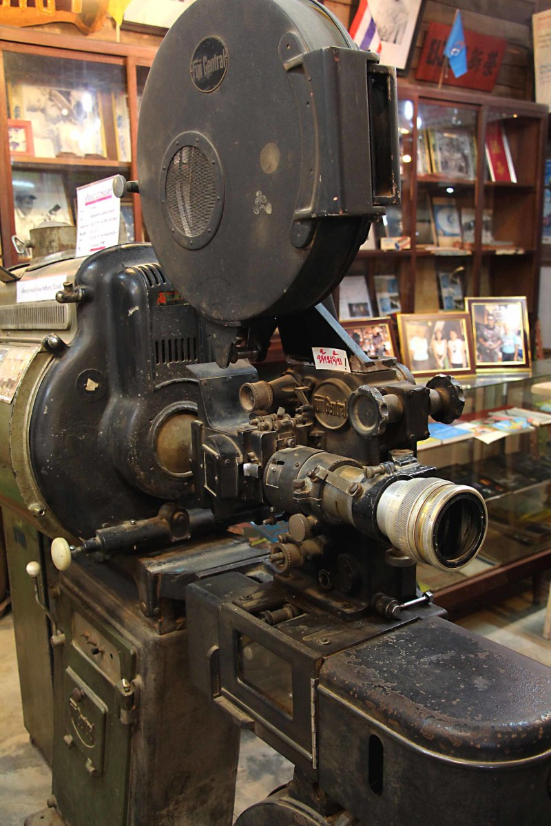 A really interesting little store features film and photography paraphernalia, including this antique movie camera