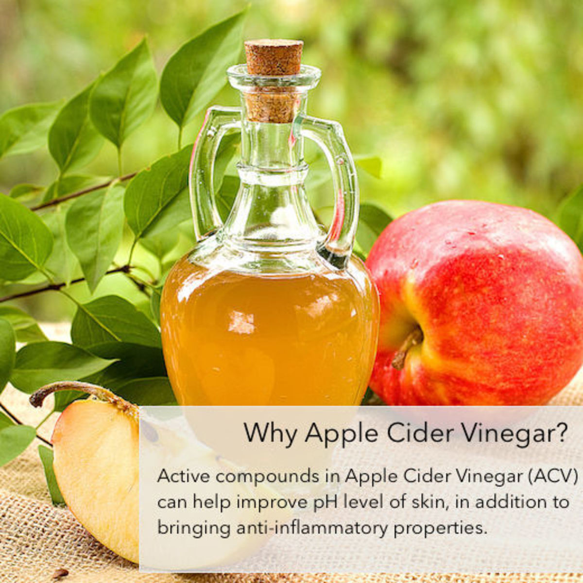 Active compounds in Apple Cider Vinegar (or ACV for short) are useful for removing acne scars.