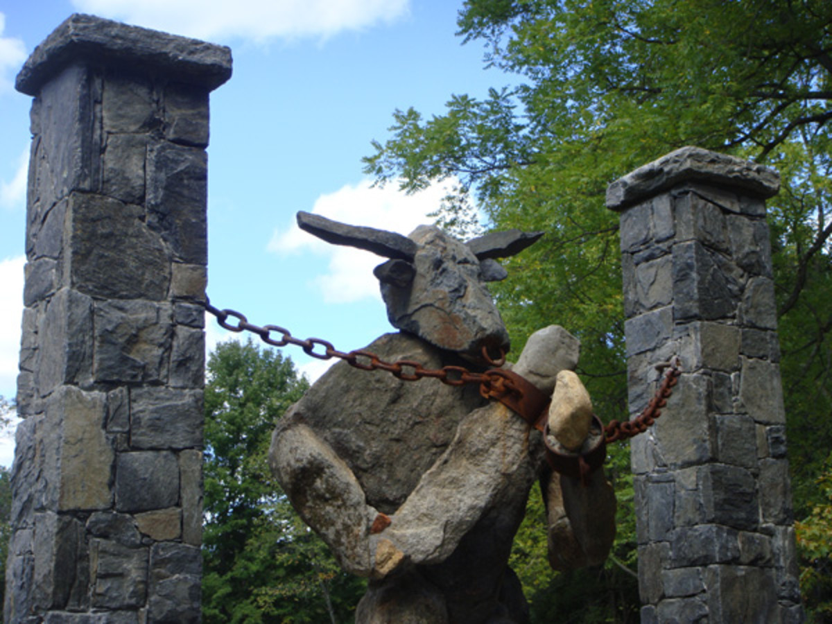 Minotaur is a sight to be seen up close, note the handcuffs and the authentic nose ring.