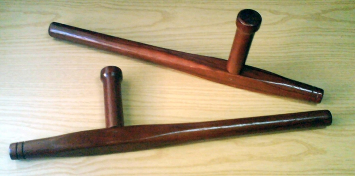 The Tonfa is an Okinawan weapon used in the art of Kobudo.