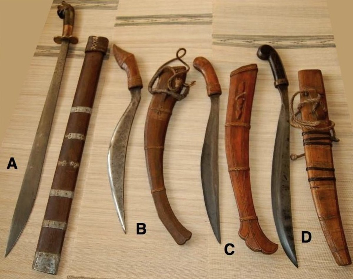Here is an assortment of weaponry from the Filipino martial arts, famed for its use of weapons.