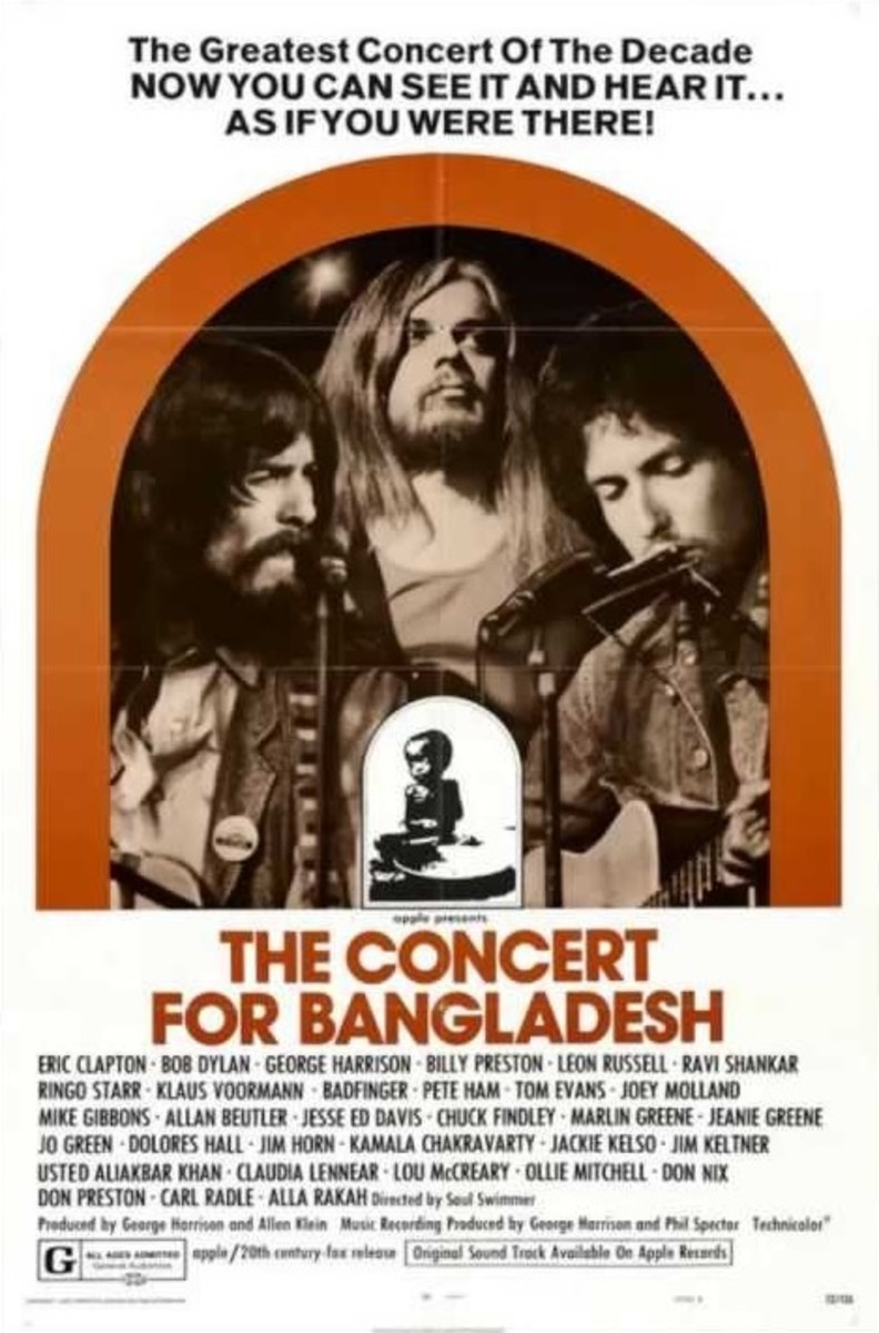 Benefit concert for Bangladesh Refugee Relief at Madison Square Garden, New York (1st August 1971)