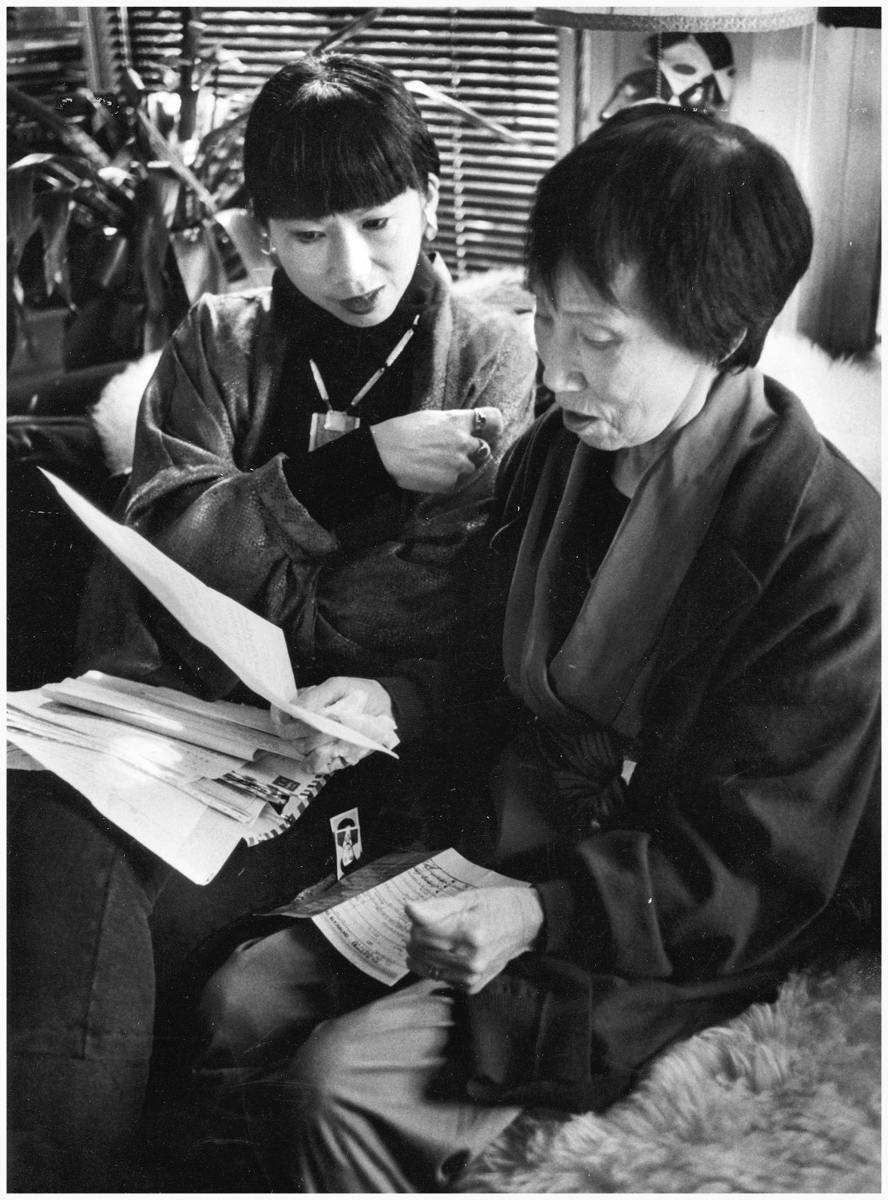 Amy Tan with Mother