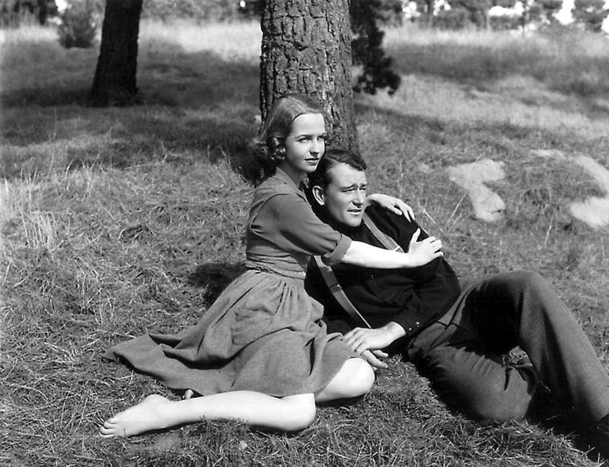 "John Wayne and Betty Field in ""Shepherd of the Hills."""
