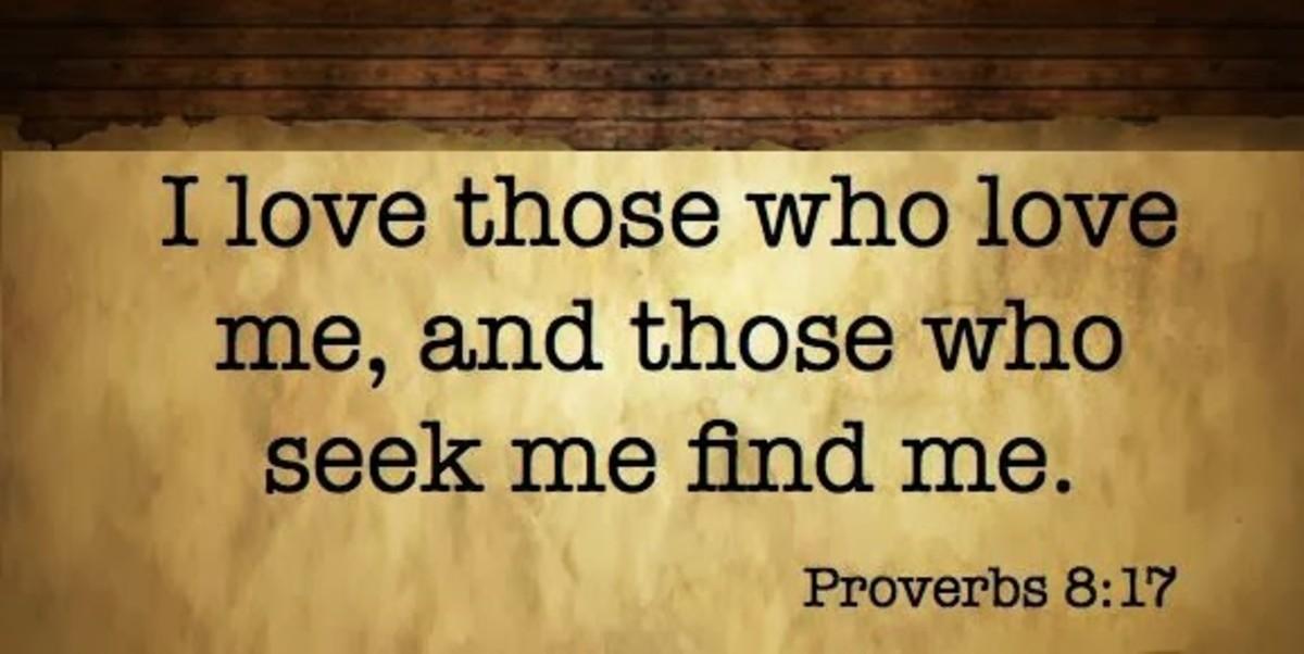 Proverbs 8 17