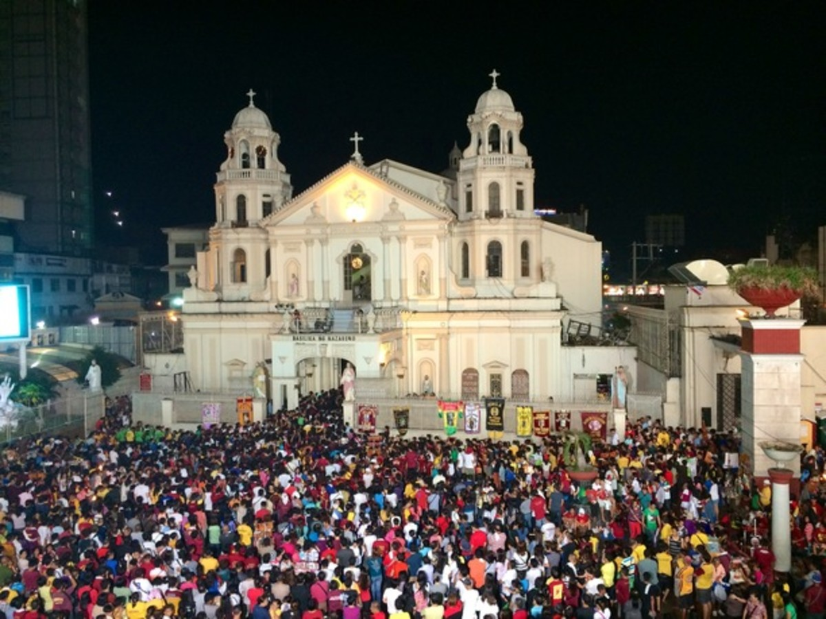 Thousands of devotees flock the Quiapo Church in Manila during the feast of the Black Nazarene