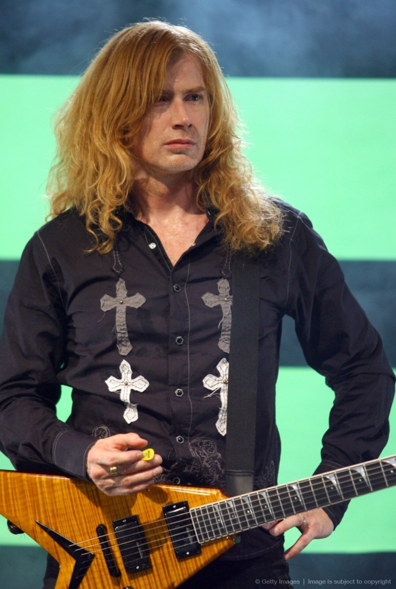 Dave Mustaine seen here during the filming of the video A Tout Le Monde (Set Me Free) on March 8, 2007.