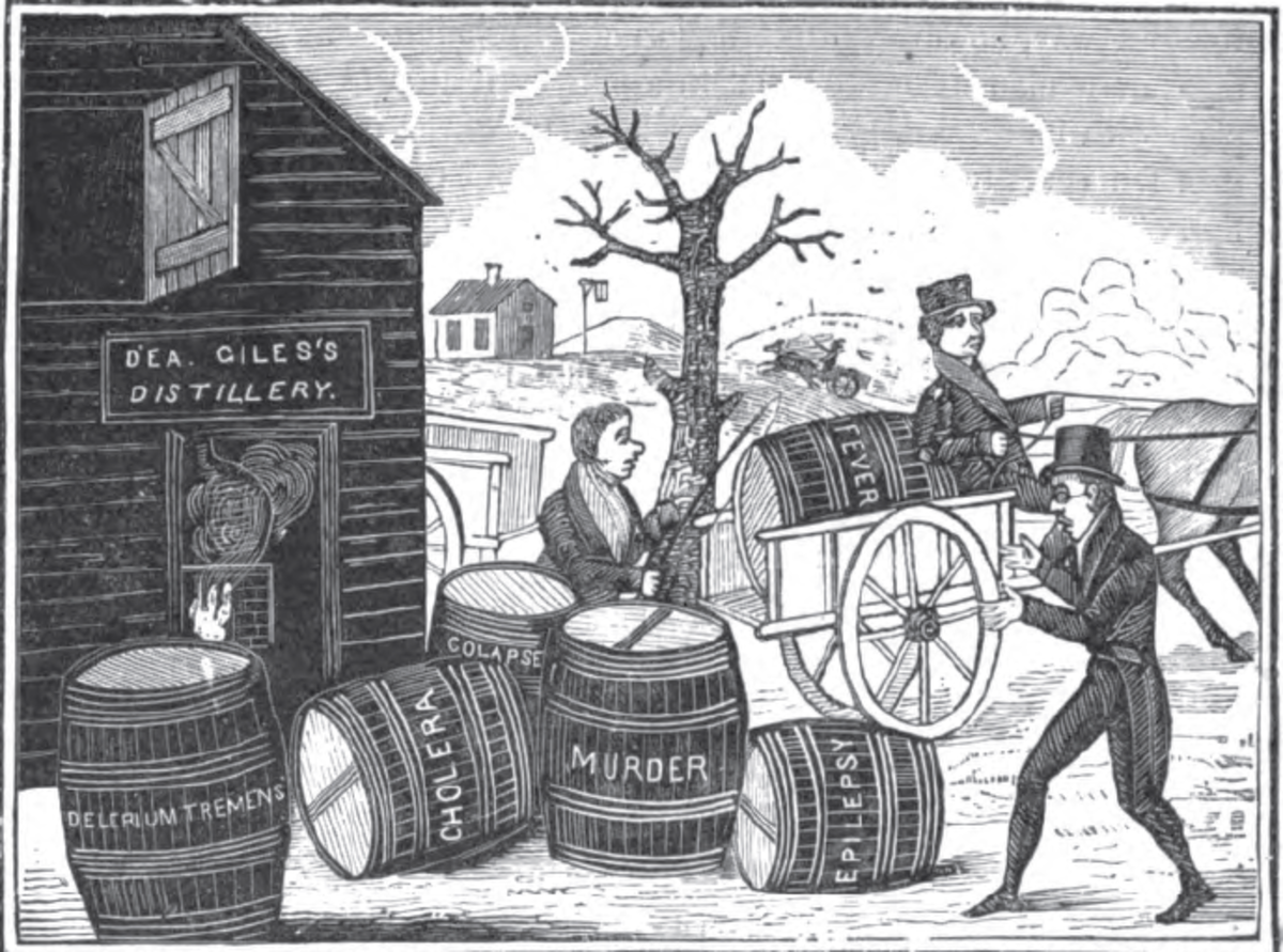 "By time the revolution arrived in 1776, ""demon rum"" was associated with many social ills"