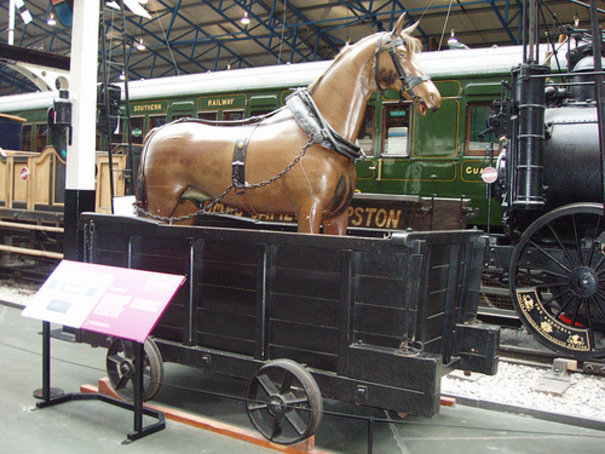 A horse 'Dandy'' wagon seen at Locomotion Shildon - one of these ran at the tail of trains for the horse to ride in when going downhill