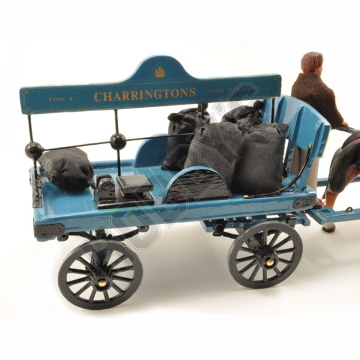 Horse-drawn coal delivery cart in model form from Hobby's UK - the railway companies also owned delivery carts