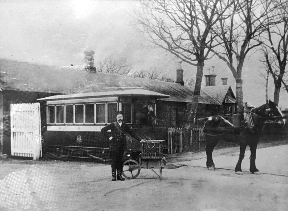 The railway bus, Inchture, Perhshire, Scotland became a later casualty to steam haulage