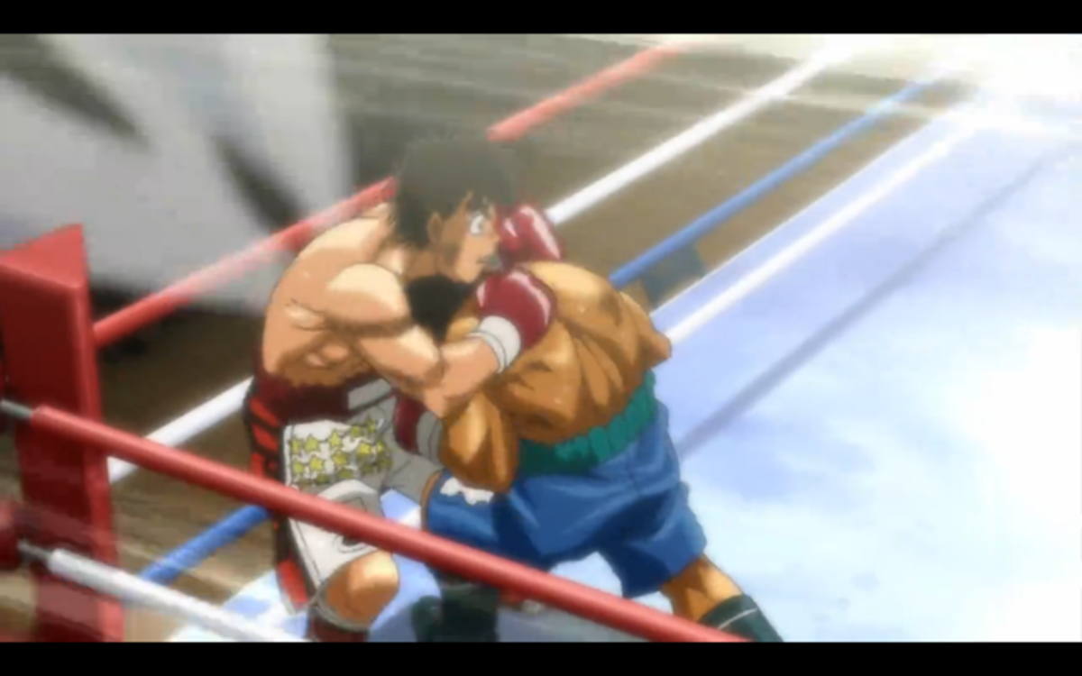 An example of fine clinching in Hajime no Ippo.