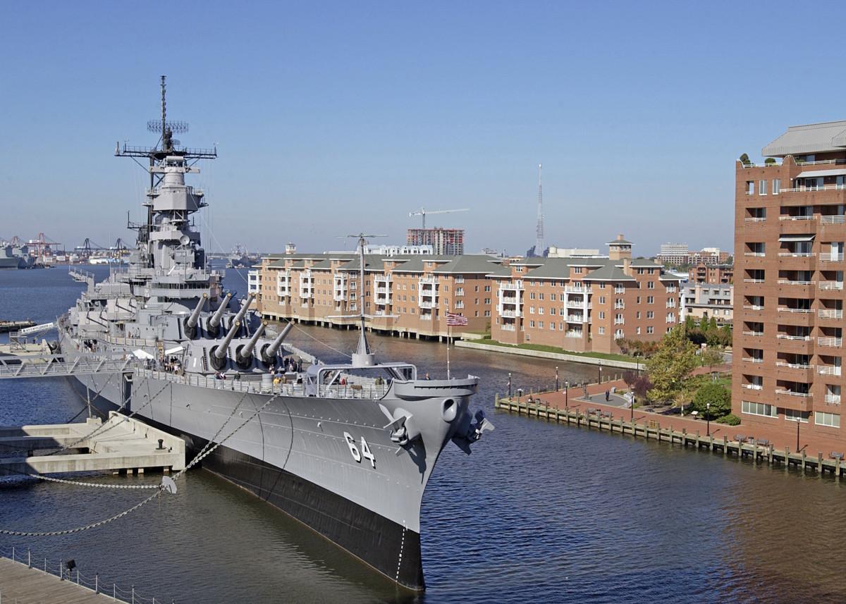 USS Wisconsin as a museum ship.