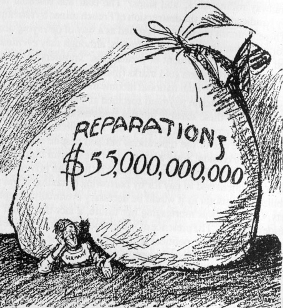 A typical view of the reparations, but one which is wrong.